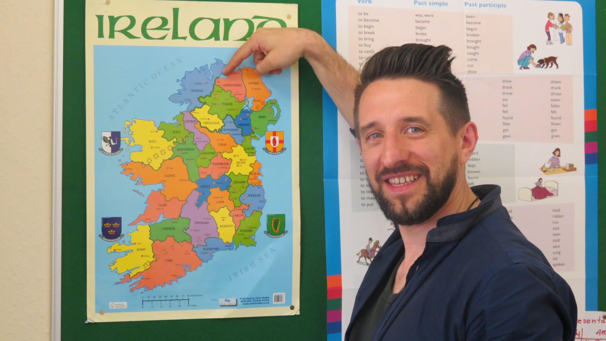 A paixão pelo ensino da língua Inglesa nas mãos de um professor irlandês!